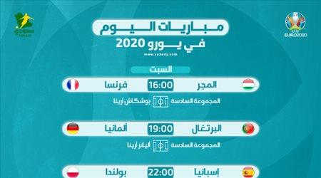 مباريات اليوم في يورو 2020| ألمانيا ضد البرتغال.. وفرنسا تبحث عن التأهل الرسمي