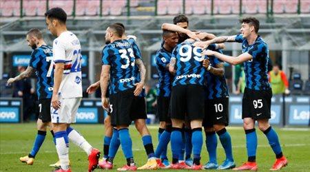 إنتر يحتفل بلقب الدوري الإيطالي باكتساح سامبدوريا بخماسية