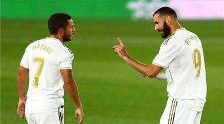 بنزيما يزين قائمة ريال مدريد الرسمية ضد أتلتيكو مدريد.. وغياب هازارد
