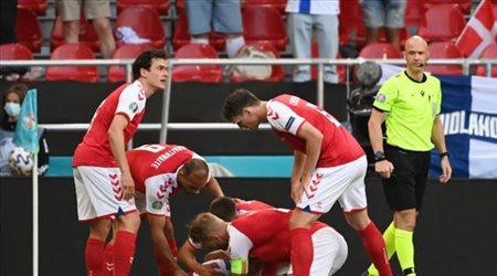 إصابة مميتة لإيركسين في مباراة الدنمارك أمام فنلندا بيورو 2020
