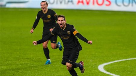 أخيرا.. مفاجأة سعيدة من ميسي تمنح برشلونة لقب السوبر الإسباني