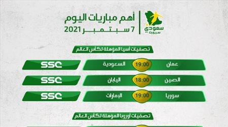 مباريات اليوم| السعودية تواجه عمان ومواجهات سهلة لفرنسا والبرتغال في رحلة المونديال