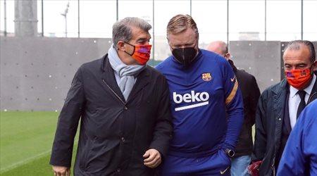 """لابورتا """"يدعم"""" كومان ضد نجوم برشلونة في الميركاتو الصيفي"""