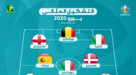 تشكيل يورو 2020 المثالي| نجم برشلونة يسطع وسط سيطرة إيطالية ومفاجأة رونالدو