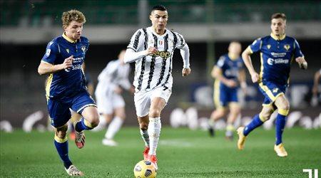"""""""هدف رونالدو لا يكفي"""".. هيلاس فيرونا يخطف نقطة من يوفنتوس في الدوري الإيطالي"""