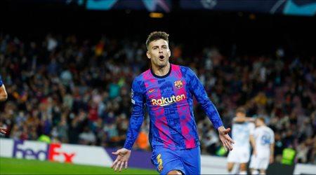 بيكيه ينفرد برقم تاريخي مع برشلونة في دوري أبطال أوروبا