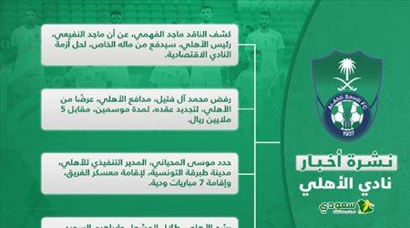 أخبار الأهلي اليوم| النفيعي يرعب الهلال والنصر.. صدمة آل فتيل ومعسكر تونس