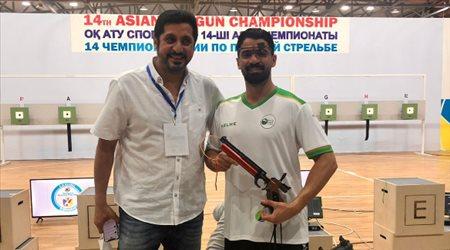 """مسدس """"سفر"""" يتوج بفضية البطولة الآسيوية للرماية"""