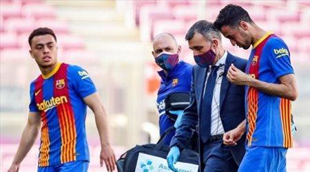 رسميا.. انتهاء موسم بوسكيتس مع برشلونة بسبب كسر في الفك