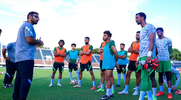 سعد الشهري - تدريبات منتخب السعودية الأولمبية