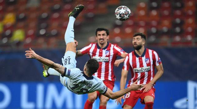 أوليفيه جيرو - من مباراة تشيلسي وأتلتيكو مدريد