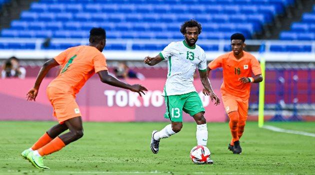 ياسر الشهراني في مباراة السعودية وساحل العاج