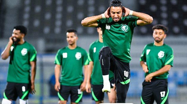 سالم الدوسري - تدريبات منتخب السعودية الأولمبي