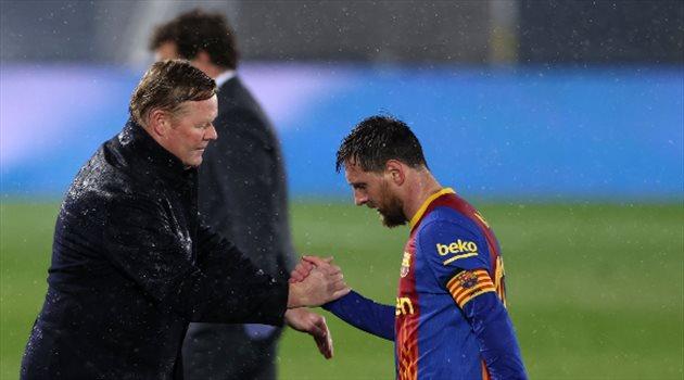 كومان وميسي من مباراة ريال مدريد وبرشلونة
