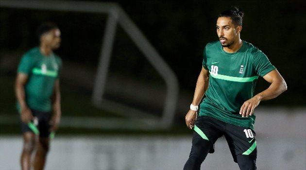 سالم الدوسري من تدريبات السعودية - أولمبياد طوكيو