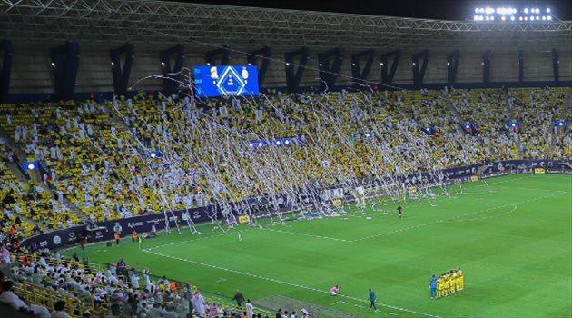 النصر من ملعب مرسول بارك في مباراة الاتحاد