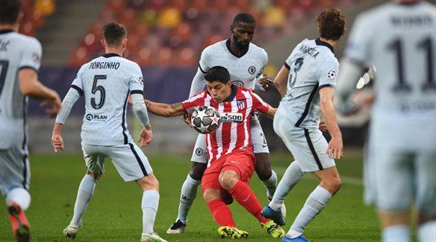 لويس سواريز من مباراة أتلتيكو مدريد وتشيلسي في دوري أبطال أوروبا