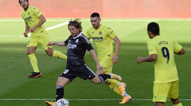 مودريتش من مباراة ريال مدريد وفياريال