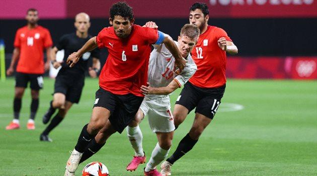 أحمد حجازي في مباراة مصر وإسبانيا